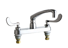 Chicago Faucets - 1100-317XKCP - 8-inch Center Deck Mounted Sink Faucet