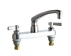 Chicago Faucets - 1100-369ABCP - 8-inch Center Deck Mounted Sink Faucet