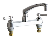 Chicago Faucets - 1100-E2805-5-369CP - 8-inch Center Deck Mounted Sink Faucet