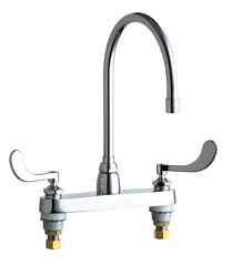 Chicago Faucets - 1100-GN8AE3-317ABCP - ECAST™ SINK FAUCET