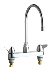Chicago Faucets - 1100-GN8AE3CP - 8-inch Center Deck Mounted Sink Faucet