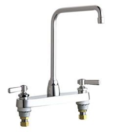 Chicago Faucets - 1100-HA8-369ABCP - 8-inch Center Deck Mounted Sink Faucet