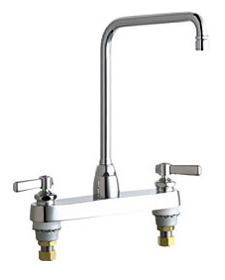 Chicago Faucets - 1100-HA8-369VPACP - 8-inch Center Deck Mounted Sink Faucet