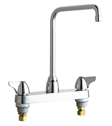 Chicago Faucets - 1100-HA8ABCP - 8-inch Center Deck Mounted Sink Faucet