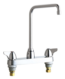 Chicago Faucets - 1100-HA8CP - 8-inch Center Deck Mounted Sink Faucet