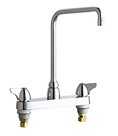 Chicago Faucets - 1100-HA8VPCCP - 8-inch Center Deck Mounted Sink Faucet