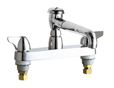 Chicago Faucets - 1100-L5VBCP - Service 8-inch Center Deck Mounted Sink Faucet