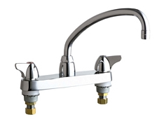 Chicago Faucets - 1100-L9CP - 8-inch Center Deck Mounted Sink Faucet