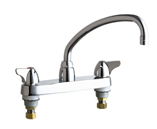 Chicago Faucets - 1100-L9E29VPCP - 8-inch Center Deck Mounted Sink Faucet
