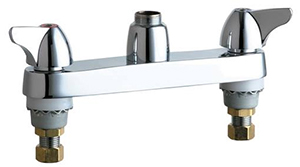 Chicago Faucets - 1100-LESAB - 8-inch Center Deck Mounted Sink Faucet