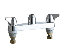 Chicago Faucets - 1100-LESSSPTCP - 8-inch Center Deck Mounted Sink Faucet