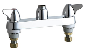 Chicago Faucets - 1100-LESSSPTXKCP - 8-inch Center Deck Mounted Sink Faucet