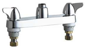 Chicago Faucets - 1100-LESXKAB - 8-inch Center Deck Mounted Sink Faucet