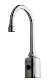 Hytronics - Single Hole Faucet, Deck Mount, Electronic Faucet with Gooseneck Spout and Dual Beam Infrared Sensor