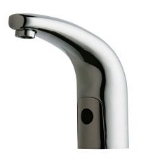 Hytronics - Single Hole Faucet, Deck Mount, Traditional Electronic Lavatory Faucet with Dual Beam Infrared Sensor