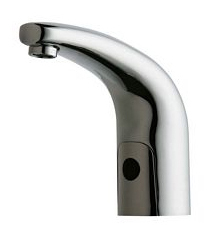 Chicago Faucets 116.211.AB.1 Single Hole, Deck Mount, Traditional Electronic Lavatory Faucet