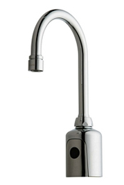 Chicago Faucets 116.597.AB.1 - HYTRONIC GOOSENECK SINK FAUCET WITH DUAL BEAM INFRARED SENSOR