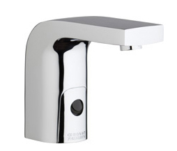 Chicago Faucets 116.768.AB.1 -  HyTronic Edge Lavatory Sink Faucet with Dual Beam Infrared Sensor. Edge Electronic Integral Spout. 0.5 GPM (1.9 L/min) Vandal Proof Non-Aerating Spray. Stainless Steel Hoses Included.