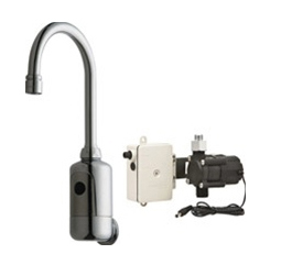 Chicago Faucets 116.904.AB.1 HyTronic Gooseneck Sink Faucet with Dual Beam Infrared Sensor