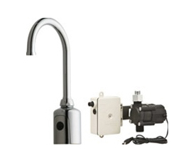 Chicago Faucets 116.905.AB.1 HyTronic Gooseneck Sink Faucet with Dual Beam Infrared Sensor