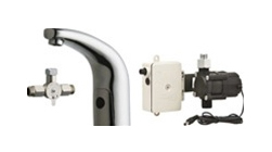 Chicago Faucets 116.911.AB.1 HyTronic Traditional Sink Faucet with Dual Beam Infrared Sensor