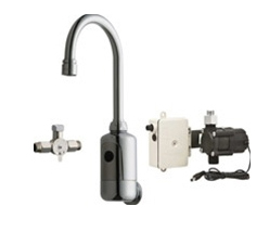 Chicago Faucets 116.914.AB.1 HyTronic Gooseneck Sink Faucet with Dual Beam Infrared Sensor