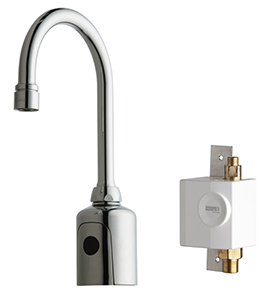 Chicago Faucets 116.933.AB.1 - HyTronic Gooseneck Sink Faucet with Dual Beam Infrared Sensor