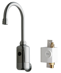 Chicago Faucets 116.934.AB.1 - HyTronic Gooseneck Sink Faucet with Dual Beam Infrared Sensor
