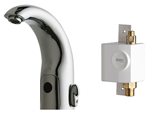 Chicago Faucets 116.942.AB.1 - HyTronic Contemporary Sink Faucet with Dual Beam Infrared Sensor