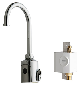 Chicago Faucets 116.945.AB.1 - HyTronic Gooseneck Sink Faucet with Dual Beam Infrared Sensor