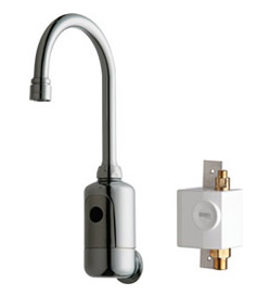 Chicago Faucets 116.954.AB.1 - HYTRONIC GOOSENECK SINK FAUCET WITH DUAL BEAM INFRARED SENSOR