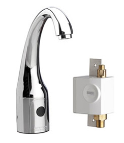 Chicago Faucets 116.959.AB.1 - HyTronic Curve, SSPS, single supply for tempered water with laminar flow device