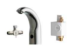 Chicago Faucets 116.962.AB.1 - HYTRONIC CONTEMPORARY SINK FAUCET WITH DUAL BEAM INFRARED SENSOR