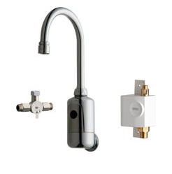Chicago Faucets 116.964.AB.1 - HYTRONIC GOOSENECK SINK FAUCET WITH DUAL BEAM INFRARED SENSOR