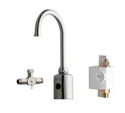 Chicago Faucets 116.965.AB.1 - HYTRONIC GOOSENECK SINK FAUCET WITH DUAL BEAM INFRARED SENSOR