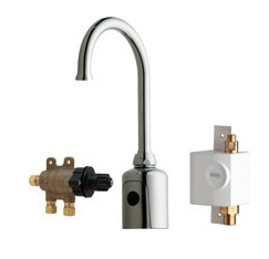Chicago Faucets 116.975.AB.1 - HYTRONIC GOOSENECK SINK FAUCET WITH DUAL BEAM INFRARED SENSOR