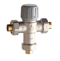 Chicago Faucet - Thermostatic Mixing Valve for 1 to 6 Fittings