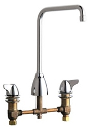 Chicago Faucets - 1201-AHA8VPCCP - 8-inch Deck Mounted Kitchen Sink Faucet