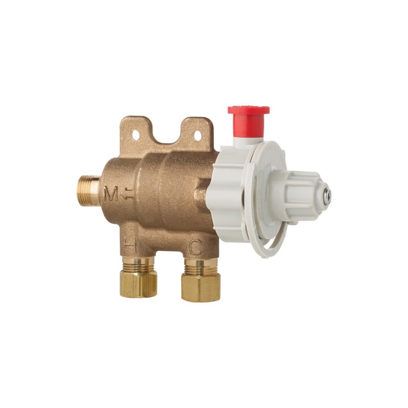 T S Ec Tmv Thermostatic Mixing Valve For Chekpoint Faucets: Chicago Faucets 131-FMAB ECAST® Thermostatic Mixing Valve