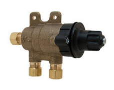 Chicago Faucets 131-NF Thermostatic Mixing Valve with Standard 3/8 inch compression inlet and outlet connections