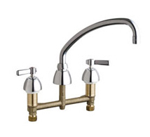 Chicago Faucets - 201-AABCP - Kitchen Sink Faucet without Spray