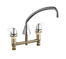 Chicago Faucets 201-AE35-1000ABCP - CONCEALED KITCHEN SINK FAUCET