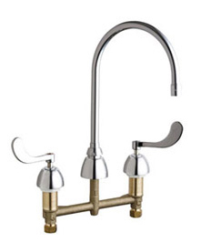 Chicago Faucets - 201-AGN10AE3SWG317CP - Kitchen Sink Faucet without Spray