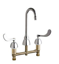 Chicago Faucets - 201-AGN1AE3-317CP - Kitchen Sink Faucet without Spray