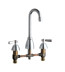 Chicago Faucets - 201-AGN1AE3CP - Kitchen Sink Faucet without Spray