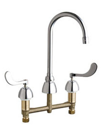 Chicago Faucets - 201-AGN2AE3-317CP - Kitchen Sink Faucet without Spray