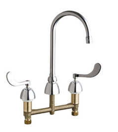 Chicago Faucets - 201-AGN2AE3-317VPCCP - Kitchen Sink Faucet without Spray