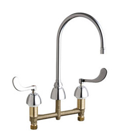 Chicago Faucets - 201-AGN8AE2805-5-317ABCP - ECAST™ KITCHEN SINK FAUCET