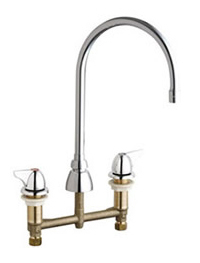 Chicago Faucets 201-AGN8AE3-1000AB - Concealed Kitchen Sink Faucet