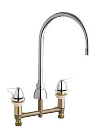 Chicago Faucets 201-AGN8AE3-1000CP - Concealed Kitchen Sink Faucet